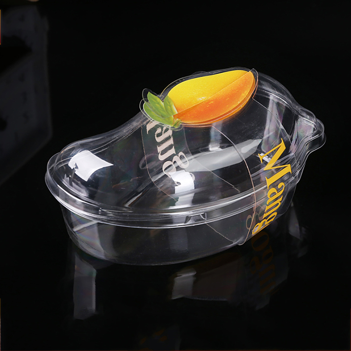 New Design Disposable Clear Mango Cake Plastic Blister Box