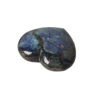 Natural Healing Crystals Flashy labradorite Stone Heart Shaped Rocks For Sale