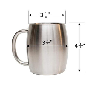 personal design e-friendly single wall copper mini mule mug