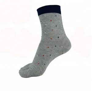 c0c8d19b923 Custom Logo fashion colorful knitted Men s autumn winter toe grey sport  long five fingers socks