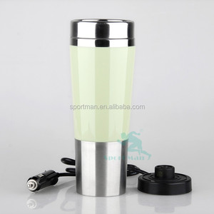 450ml double wall electric heat travel mug,electric termos car mug