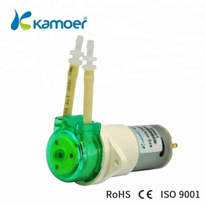 Kamoer 12v DC electric motor gear pump price peristaltic liquid pump 12v with silicone tubing
