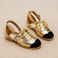 perfact on and off child summer sandals girl designer kid shoes black toe cap shining gold