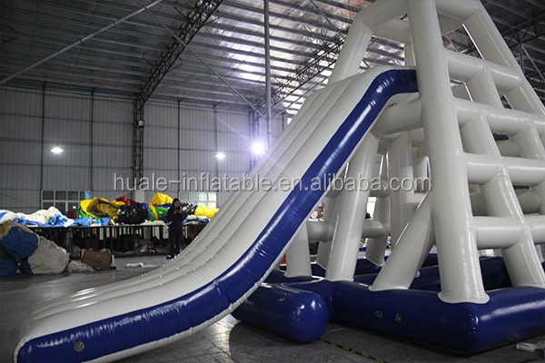 hot sale giant inflatable water slide inflatable floating island water park
