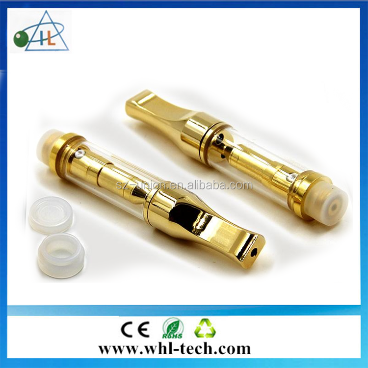 USA health product G2S cbd cartridge Gold metal tip 1.0 ml ceramic coil preheating G2S glass atomizer