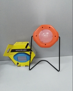 solar reading lamp with steel stand