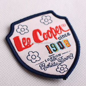 iron-on embroidery patch iron on sticker self adhesive fabric patches for garment