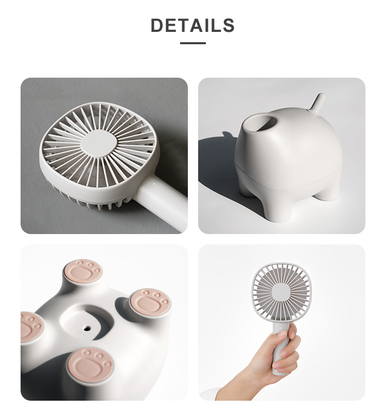Multi Function Rechargeable Rotation Table Stand USB Mini Fan