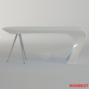 China Manufacture Artificial Marble Curved Led Executive Office Furniture Desk Manager Computer Table