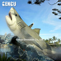 Animal Theme Park High Quality Simulation Rubber White Shark Model