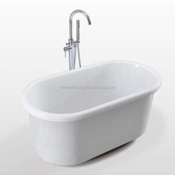 Acrylic tub freestanding bathtub small soaking bath for Best acrylic bathtub to buy