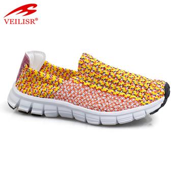 Casual Sneakers Women Woven Shoes
