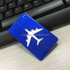 Aluminum Luggage Tag Travel Boarding Aircraft Plane Shape Suitcase Tag Label Name Address Holder Hangtag Outdoor Tool