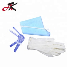Disposable Gynecology Set with Latex Examination Gloves 2pcs for operation use