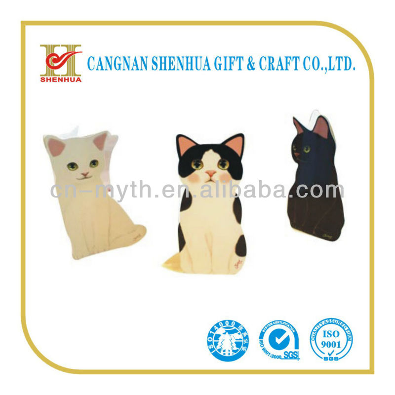 customized cat greeting card animal shape card
