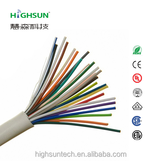 Top quality and hot sale CCA TC BC TCCA conductor PVC jacket alarm cable