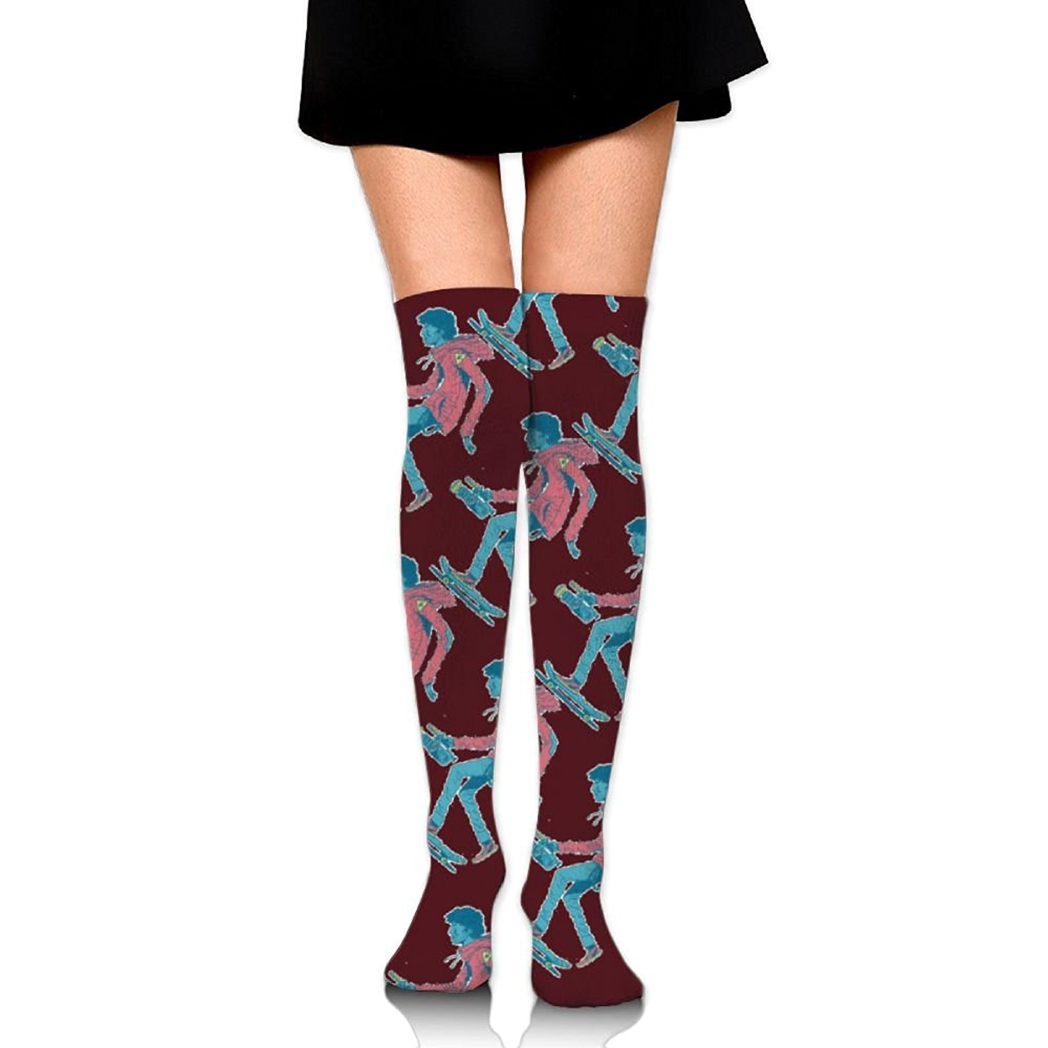 Zaqxsw Skate Sport Women Cool Thigh High Socks Thermal Socks For Ladies