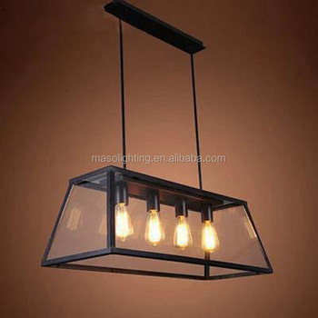 Maso Square Gl Pendant Lighting Vintage Lamp Antique Fixture Ms P6061a 4