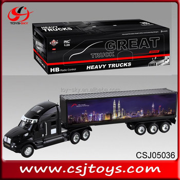 Children Toys 4CH RC Container Truck Remote Control Tow Trucks For Sale