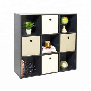 Modern style design office furniture wood 9 cube storage cabinet bookcase for living room