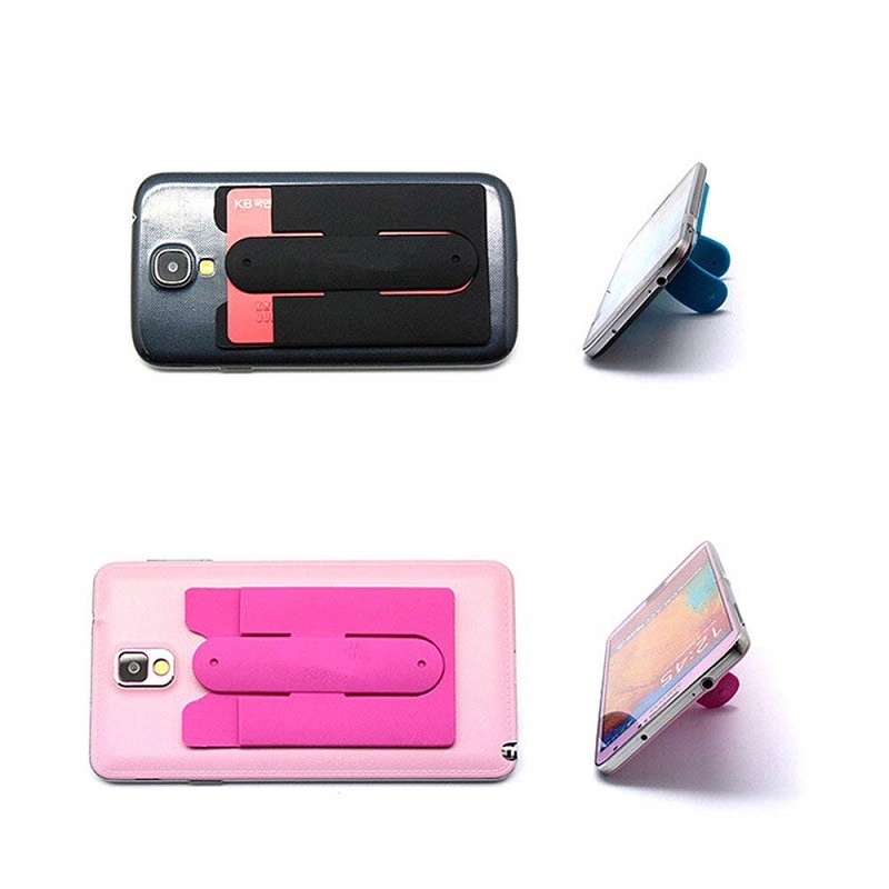 Hot Selling Flexible Silicone Phone Card Stand