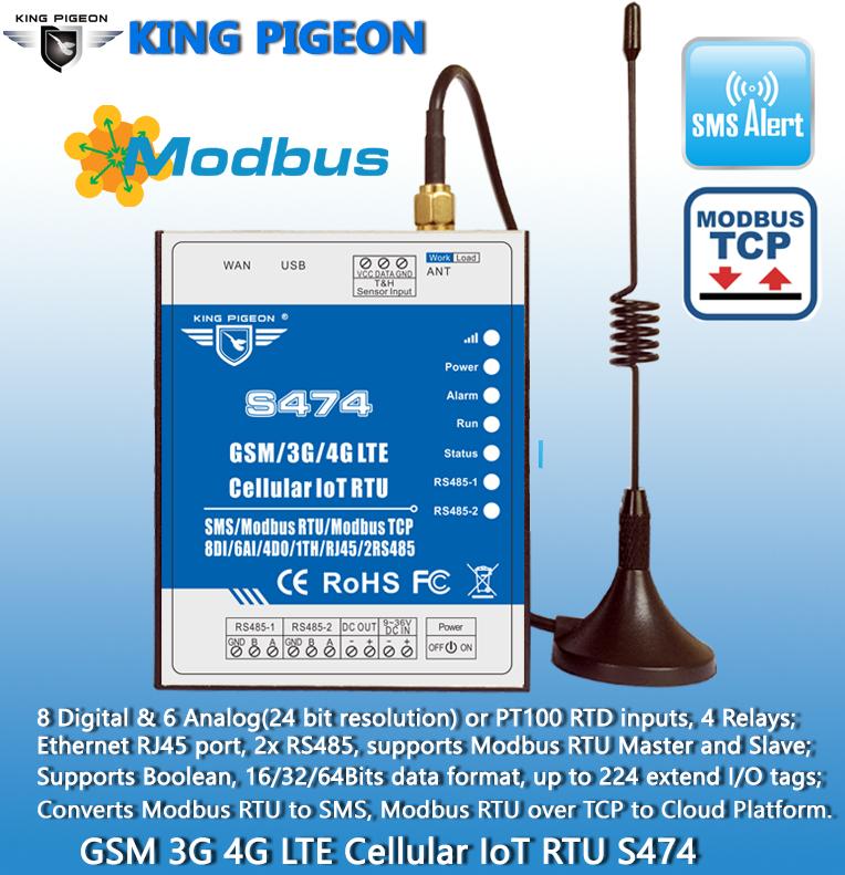 IoT RS485 Celular GPRS RTU Modbus/3G/4G/NB-IoT S473 Modbus RTU