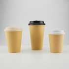 4oz expresso craft paper cups, custom Logo printed PLA coffee to go paper cups with plastic lids cover