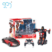 2.4G RC Robot Car For 2017 New Wholesale Trans Robot Toy Car With Music