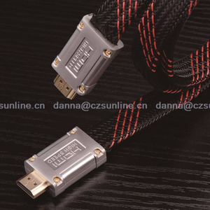 High speed metal plug flat mesh jacket hdmi 2.0 cable for ps4 Ethernet
