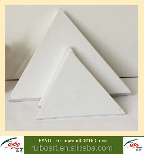 Triangular Stretched Canvas Staple on Back