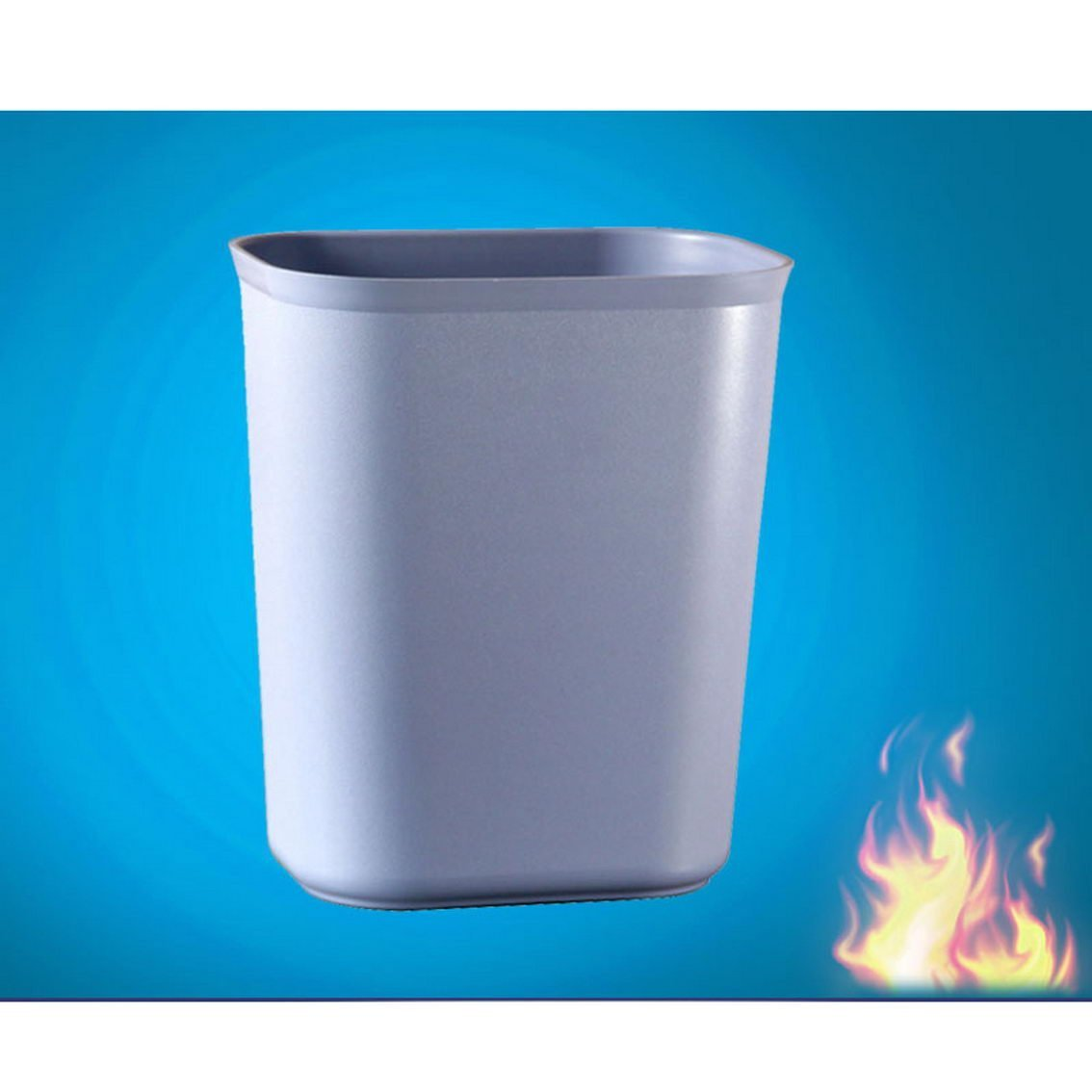 jii2030shann Hotels trash hotel rooms room fire-retardant plastic trash thickening square office room plastic trash bin trash can plastic square rectangular plastic trash