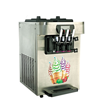 Big Three Flavors Soft Ice Cream Machine Rainbow Flavors CE Prove Spaghetti/Frozen Yogurt Ice Cream Machine