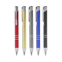 bulk sales cheap promotional office business imprint aluminum metal twist ballpoint ball pen with custom company logo branding