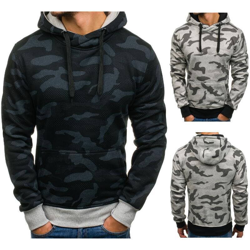 two colors four sizes <strong>black</strong> gray camouflage <strong>men's</strong> casual modern <strong>hoodies</strong> long sleeve classical <strong>men</strong> <strong>hoodies</strong>
