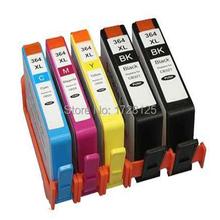 5 CHIPPED Ink Cartridge 364 XL for Photosmart 5520 5524 6510 6520 7510 B109 B110 B209 B210 C309 C310 C410 PRINTER
