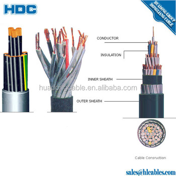 us f cv cable 3c 4mm2 cvv control cable cvvs screen control cable fr