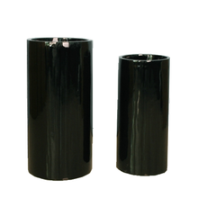 Tall black bloempot planter voor home decor