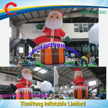 7.5m/25ft giant inflatable santa claus advertising cartoon/outdoor decoration Christmas man