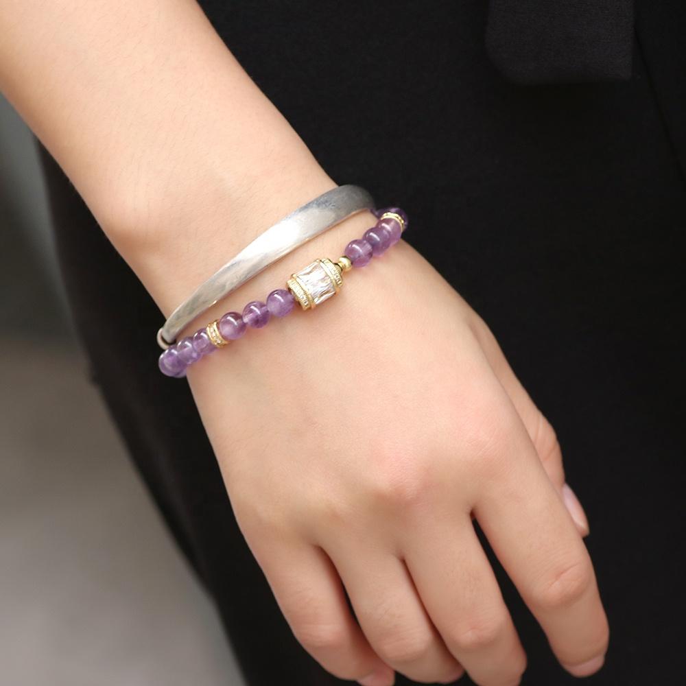 Elastic blue and silver cyrastal beacelet,handmade jewellery,handmade bracelet,cyrstal beaded bracelet