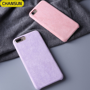 mobile phone shell case winter warm fluff leather back case for iphone 8