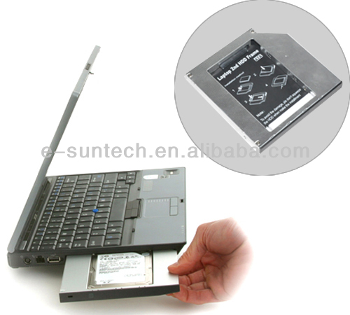 E-sun Aluminium 9.5mm SATA to IDE second Caddy with Screwdriver for laptop Hard Drive