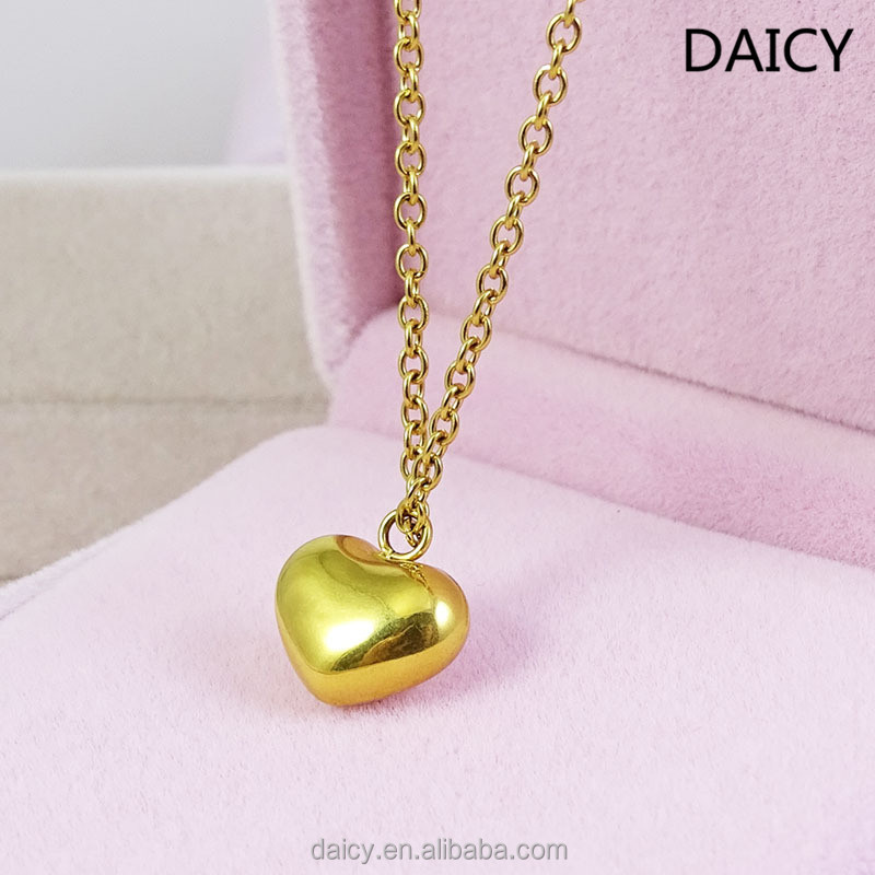Daicy New Fashion Stainless Steel Gold Small Cute Girlfriend Heart Pendant Necklace Buy Girlfriend Heart Pendant Necklace Small Cute Necklace Women Gold Necklace Product On Alibaba Com