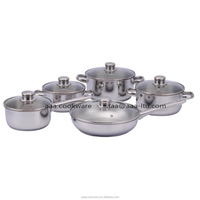 Hot Selling 18 8 material Cookware sets with induction base