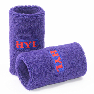 HYL-Wrist support 02 Terry cloth custom sports wristbands wholesale