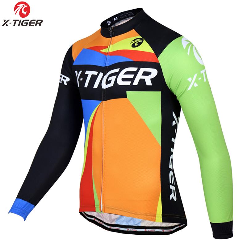 4bfd0ec4f X-TIGER Winter Thermal Fleece Cycling Jersey Super Warm MTB  strong Bike
