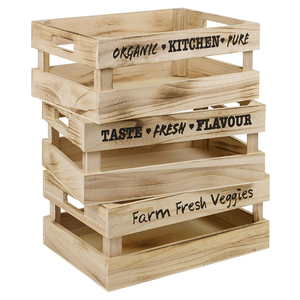 Wholesale large unfinished wood wine storage crate for 24 bottles