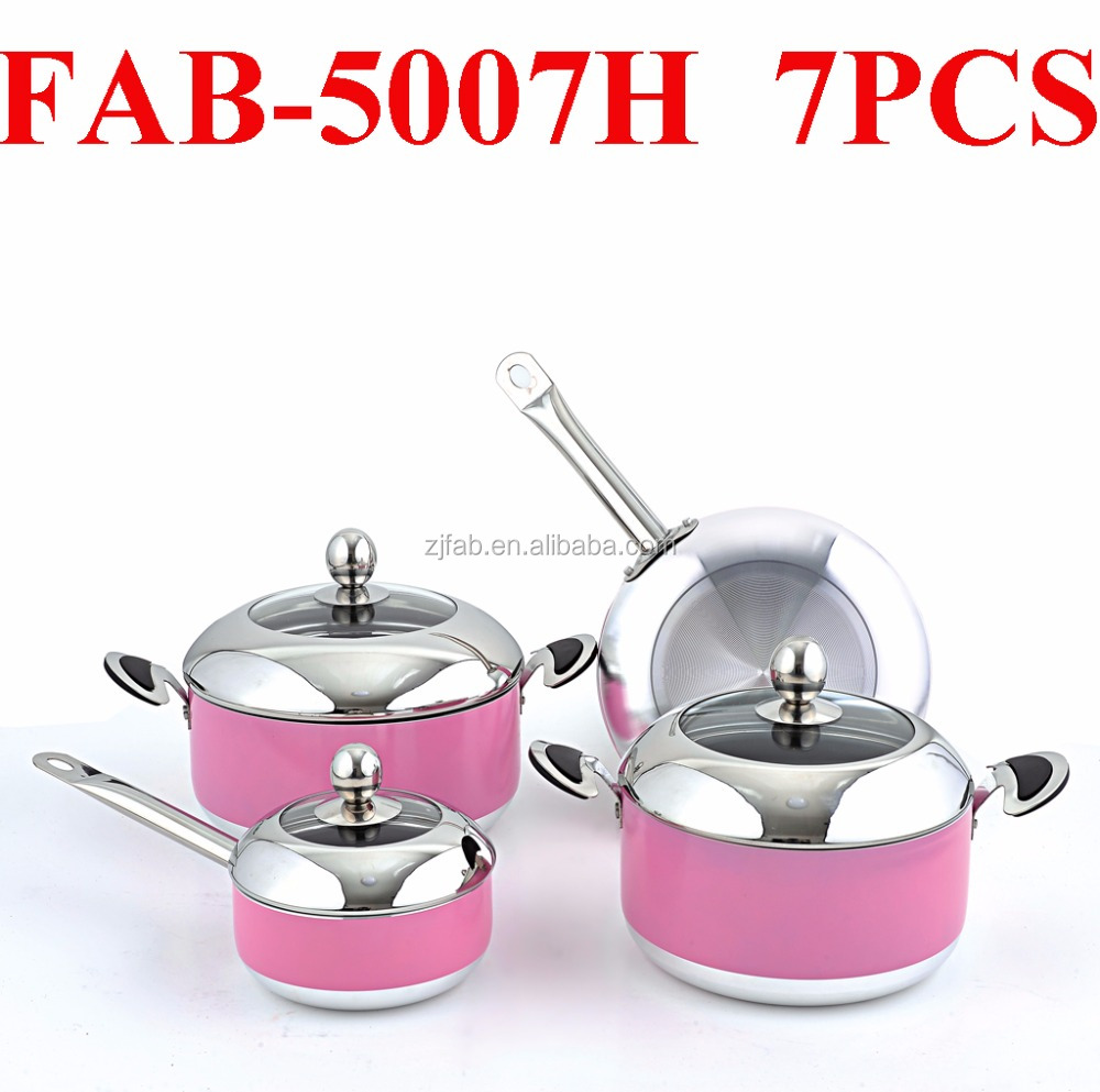 Non-stick Pink Cookware Set, Non-stick Pink Cookware Set Suppliers ...