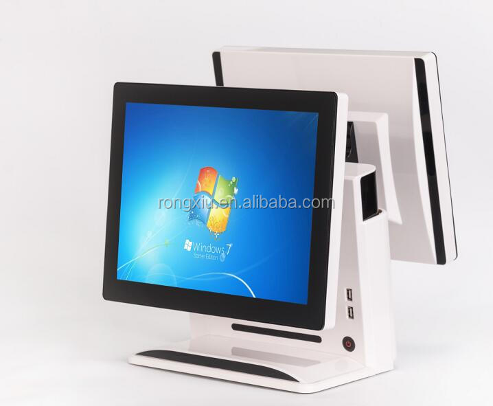 wholesale All in One 15 inch doubl Touch Screen POS Termina lin System with ordering system