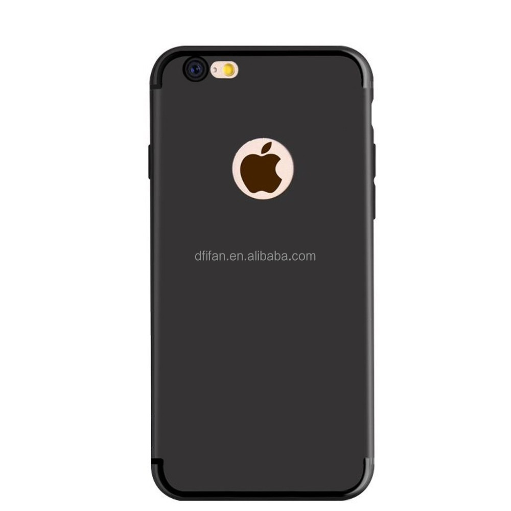 New 2017 phone cover Matte Black Case for Apple7 plus Soft TPU phone cover For iphone 7plus Case Jet black for iphone7 plus case