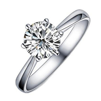 Classic Exquisite Full Of CZ Stone Shine Bright Wedding Women Ring Platinum plated White copper Diamond Rings XEYJZ 023